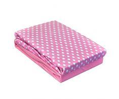 Dudu N Girlie cotone lenzuolo con angoli per lettino, 60 x 120 cm, astratto rosa, pezzi