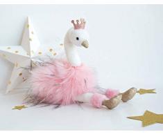 Storia Di Orso Peluche cigno rosa 80 cm