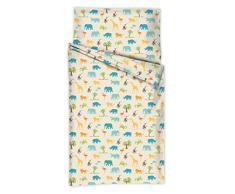 Di lana per bambini con sogno 5217012 biancheria da letto per bambini Giungla, Design 170, 40 x 60 cm e 100 x 135 cm