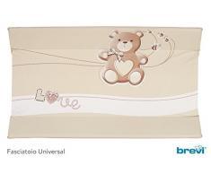 Brevi Confort, Materassino fasciatoio, Multicolore (Tortora), 45 x 85 x 10 cm
