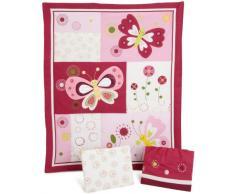Lambs & Ivy Bedtime Originals - Biancheria da letto, confezione da 3 pezzi, motivo: farfalle, colore: rosa