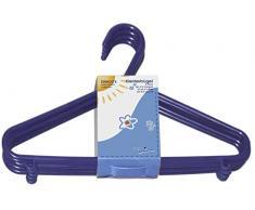 appendini bieco Bebé Bambino Hanger appendiabiti grucce di plastica per bambini per la conservazione guardaroba lunghezza armadietto 29,5 centimetri, 16 pezzi, blu, stretta, ARTN 90.016.140