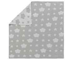 Happy Decor Kids BLC5 Coperta Lavabile Reversibile, Grigio-Bianco, 75 x 80 cm