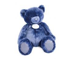 Doudou et Compagnie Orso Collezione peluche blu notte 80 cm