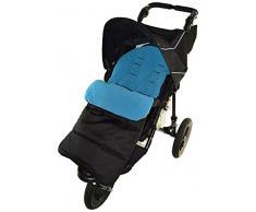 Coprigambe/Cosy Toes compatibile con passeggino Jane slalom blu oceano