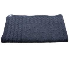 Babys Only Coperta lavorata a maglia per bambini 95 x 70 cm, Grigio (Anthrazit)