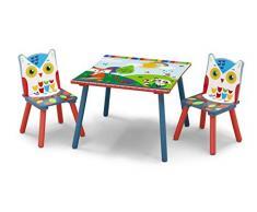 Delta Children TT87402WT Completo di Tavolo e Sedie per bambini Foresta