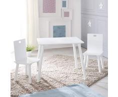 Roba - Set di mobili per bambini, composto da 2 sedie e 1 tavolo