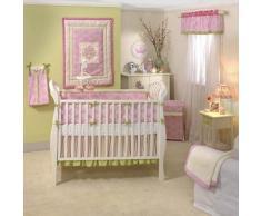 Lambs and Ivy-Set di biancheria da letto Luxury, colore: rosa, 4 pezzi