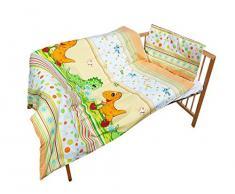 cosing 332 - 019 - 98 - Set di biancheria da letto di cotone 2 pezzi bambino - Dino, Arancione