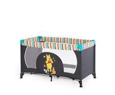Hauck Dream N Play Lettino da Viaggio 3 Pezzi, 120 x 60 cm, per Neonati e Bambini fino a 15 kg, con Materasso, Borsa, Pieghevole, Mickey Pooh Geo
