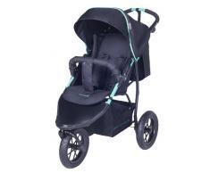 knorr-baby 883001 Joggy S - Passeggino sportivo con parasole, colore: Nero/verde