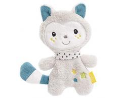 Fehn 057218 - Giocattolo a forma di gattino, con strutture per afferrare e suonare, perfetto compagno per neonati e bambini, multicolore