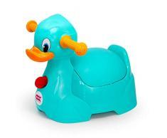 OKBABY Quack - Vasino per Bambini con Seduta Ergonomica, a Forma di Papera - Turchese