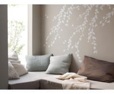 Bambizi Ltd Antheia - Adesivo da parete, motivo: giardino segreto, colore: bianco