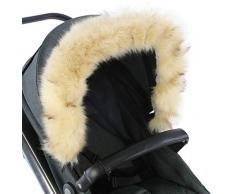 For-Your-Little-One - Cappuccio in pelliccia compatibile con passeggino, colore: Beige