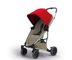 Quinny Zapp Flex Plus, Passeggino Leggero e Compatto, reversibile fronte strada e fronte mamma, reclinabile, 4 ruote grandi, colore Red on Sand