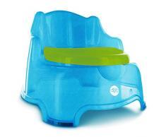 dBb Remond - Poltrona a vaso, 3 in 1, con paillette, colore: Blu traslucido