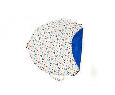 1buy3 - Coperta da gioco morbida e comoda, motivo: aereo blu royal, diametro: 120 cm