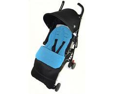 Coprigambe/Cosy Toes compatibile con passeggino Maclaren Triumph oceano blu