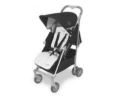 Maclaren Passeggino Techno XLR arc - Il più grande passeggino con chiusura ad ombrello, per neonati fino a 25 kg. Cappottina estensibile, sedile reclinabile imbottito. accessori inclusi.