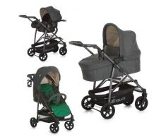 Hauck 149638.0 Rapid 4 S Plus Trio Set Deluxe Passeggino Completo Set Caviar/Emerald, Grigio