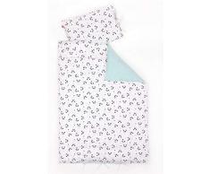 Linden 10617 - Biancheria da letto per bambini, 100 x 135 cm, colore: Bianco