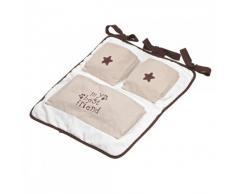 Bimbi Cioccolato Bear – Murales culla, colore: bianco
