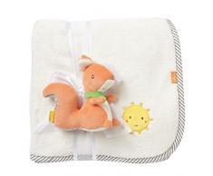Fehn 061185 coperta Scoiattolo, morbido peluche per bambini e neonati dai 0 + Mesi - per rilassarsi, come base di gioco o Doudou, Multicolore
