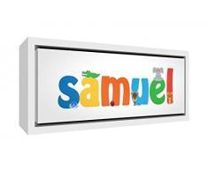 Little Helper Samuel 15de 1542 FC legno stampa su tela con cornice personalizzabile, nuovo e aufg espannt su telaio, pronto da appendere ragazzo Nomi, Samuel, Piccolo