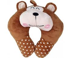Neck Pillow Brown Bear 3D Z 90-55 - Passeggino comfort, colore: marrone