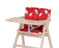 Safety 1St Imbottitura Seggiolone, Cuscino Imbottito per Seggiolone Pappa Nordik in Legno, Colore Rosso