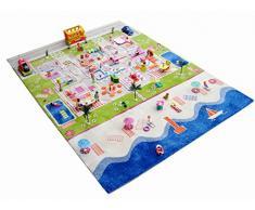 Little Helper 121MD035TR134180 - Tappeto da gioco per bambini, ipoallergenico, in 3D, 134 x 180 cm, con mare turchese
