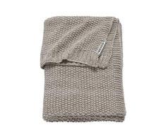 Meyco 2733081 - Coperta per neonati Relief Mix a maglia grossa, 75 x 100 cm, colore: Sabbia/Beige