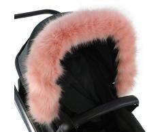 For-Your-Little-One - Cappuccio in pelliccia compatibile con passeggino NortOn, colore: Rosa