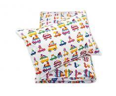 Pepi Leti 685843715597 - Biancheria da letto per bambini, motivo: carrozzina estiva, multicolore