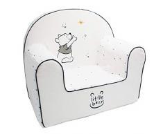 Babycalin DIS550003 - Poltroncina per bambini, sfoderabile, motivo: Disney Winnie Moon, colore: Bianco