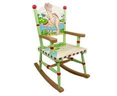 Sedia a dondolo legno cameretta bambini Fantasy Fields Dinosaur TD-0076A