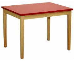 roba 50723 - Tavolo in legno per bambini, 67,5 x 51 x 50 cm, colore: Rosso