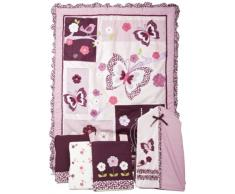 Lambs & Ivy Luxury - Biancheria da letto, confezione da 5 pezzi, colore: viola (Plumberry)