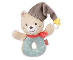 Fehn 060164 - Orsacchiotto giocattolo con anello di fissaggio per suonare sonagli, suonare, giocare, stimola giocando i sensi per neonati e bambini a partire dai 0 mesi