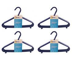 appendini bieco Bebé Bambino Hanger appendiabiti grucce di plastica per bambini per la conservazione guardaroba lunghezza armadietto 29,5 centimetri, 32 pezzi, blu, stretta, ARTN 90.032.140