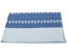 David Fussenegger 28172604 IDA - Coperta leggera in cotone, motivo pesci, 100 x 140 cm, colore: Blu