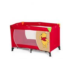 Hauck Dream N Play Plus Lettino da Viaggio, Inclusi Materasso e Borsa di Trasporto 120 x 60 cm, Utilizzabile dalla Nascita, Pieghevole, Disney Pooh Spring Brights Red (Rosso)