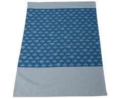 David Fussenegger 28162579 IDA - Coperta leggera in cotone, motivo: navi, 400 g, colore: blu