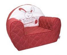 Candide 163080 Club poltrona con cappuccio fragile, a quadri bianchi e rossi