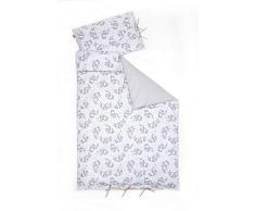 Linden 10618 - Biancheria da letto per bambini, 100 x 135 cm, motivo: orso, colore: grigio