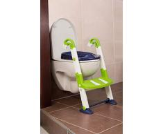 Rotho Babydesign KidsKit Vasino 3in1 Preparazione al wc, Da 18-36 mesi, 41,5 x 25 x 67 cm, Bianco/Verde/Blu, 600060255