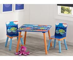 Delta Children Aventuras del Oceano Completo di Tavolo e Sedie per Bambini Oceaniche