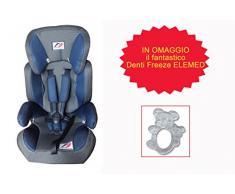 Elemed 123BG-BT203 Seggiolino Auto Racing + Denti Freeze Omaggio, Blu